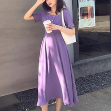 Load image into Gallery viewer, Retro High Waist Skinny Square Collar Chiffon Midi Dress SS0972