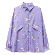 Load image into Gallery viewer, Purple Kawaii Sailor Moon Shirt SP14995