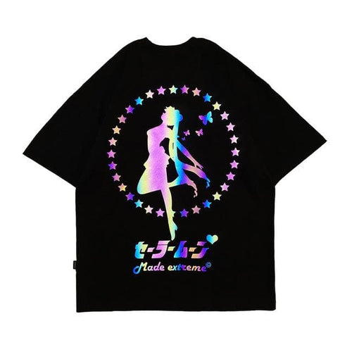 Sailor Moon Reflective Printed Loose T-shirt SP14984