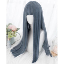 Load image into Gallery viewer, Green/Blue Natural Straight Lolita Cosplay Wig SP15078
