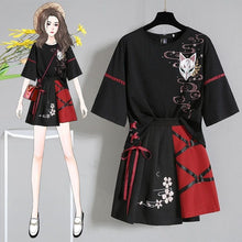 Load image into Gallery viewer, Anime  Red Ribbon Lolita T-shirt Short Skirt Set SP14983