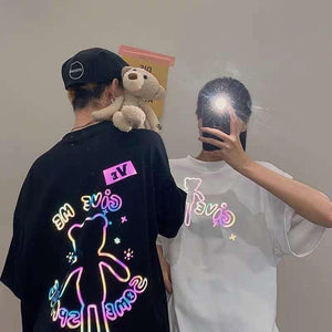 Cute Reflective Bear Couple T-Shirt SP14979