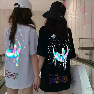 Colorful Reflective Sailor Moon Butterfly T-shirt SP14976