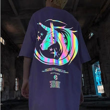Load image into Gallery viewer, Reflective Unicorn Hiphop T-shirt SP14989