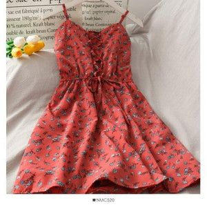 Sweet Floral Suspender Dress SP14994