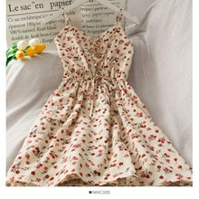 Load image into Gallery viewer, Sweet Floral Suspender Dress SP14994