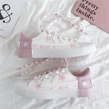 Load image into Gallery viewer, Lolita Cherry Blossom Canvas Shoes SP14992