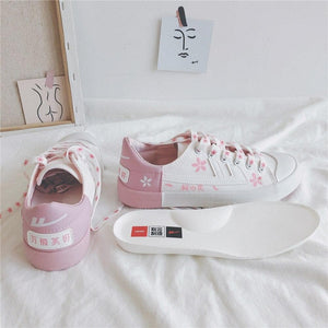 Lolita Cherry Blossom Canvas Shoes SP14992