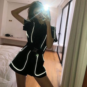 Reflective Sports Jumpsuit Shorts SP15014
