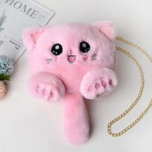 Load image into Gallery viewer, Cute Cat Tail Soft Plush Shoulder Bag SS0401