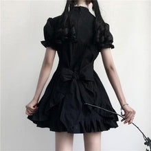 Load image into Gallery viewer, Vintage Bandage Bow Puff Sleeve Lolita Dress SP15015