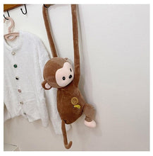 Load image into Gallery viewer, Cute Monkey Cartoon Plush Crossbody Bag SS0433
