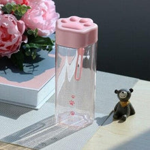 Load image into Gallery viewer, Kawaii Cat Claw Clear Water Bottle SP15276