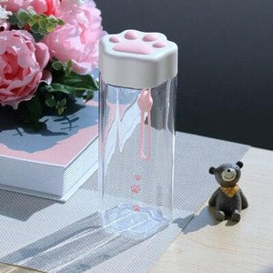 Kawaii Cat Claw Clear Water Bottle SS0450