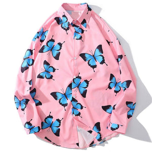 Butterfly Print Long Sleeves Shirt SS0464