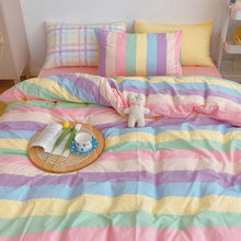 Load image into Gallery viewer, Kawaii Fashion Rainbow Bedding Set SS0487