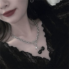 Load image into Gallery viewer, Vintage Punk Black Cherry Pendant Necklaces SP15170