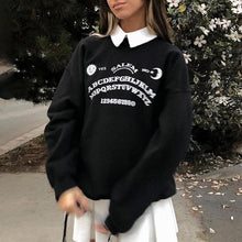 Load image into Gallery viewer, Black Grunge Oversized Hoodies Streetwear SP103