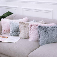 Load image into Gallery viewer, 45×45cm Solid Color Plush Pillowcase SS0685