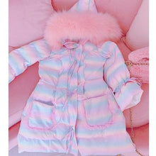 Load image into Gallery viewer, Sweet Cute Lolita Rainbow Hooded Coat SS0776