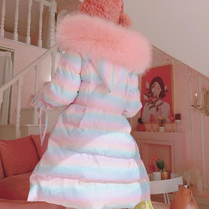 Sweet Cute Lolita Rainbow Hooded Coat SP15473