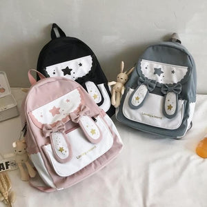 Sweet Lolita Rabbit Bowknot  Ears Rucksack SP15352