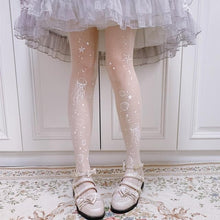 Load image into Gallery viewer, Sweet Lolita Moon Jellyfish Printed Thin Tights SP15441
