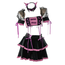 Load image into Gallery viewer, Gothic Bow Ribbon Lace Up Lolita Little Magic Girl Dress EG0524