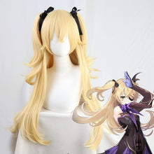 Load image into Gallery viewer, Genshin Impact Fischl Cosplay Long Straight Wig+ Pigtails SP15336