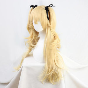 Genshin Impact Fischl Cosplay Long Straight Wig+ Pigtails SP15336