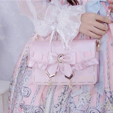 Load image into Gallery viewer, [Pre-Sale] Retro Cosplay Lolita Star Moon Ruffles Bow Single Shoulder Bag SS0753