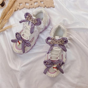 Sweet Lolita Purple Bowknot Platform Sneakers SP15373