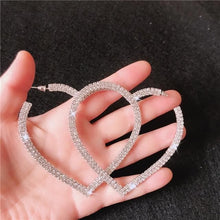 Load image into Gallery viewer, Fashion Big Heart Crystal Hoop Earrings SP15668