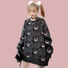 Load image into Gallery viewer, Anime Sweater Women Harajuku Gengar Pattern Pullover SP084