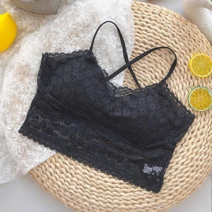 Sweet Lace Solid Color Hollow Out Sling Underwear SP15376