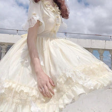 Load image into Gallery viewer, Cute Lolita Ruffled Collar Bow Tulle Layered Princess Dress SP15421