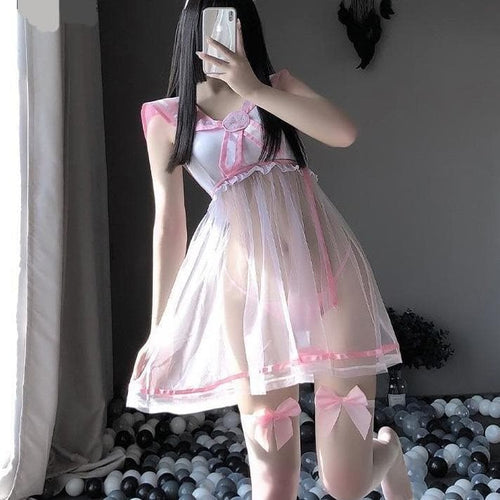 Pink Blue Sweet Babydoll Cosplay Sailor Moon Uniform EG0618