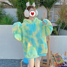 Load image into Gallery viewer, Warm Sweet Fur Rainbow Hoodie Sweatshirt SP15392