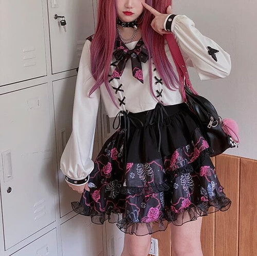 Harajuku Preppy Style Kawaii Lolita Cake Mini Skirts JK Uniform Suit SP124