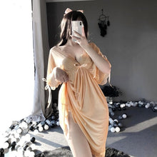Load image into Gallery viewer, Sexy Butterfly Sling Dress Deep V Transparent Nightwear SP153