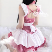 Load image into Gallery viewer, Pink Lolita Women Maid Cosplay Kawaii Lingerie SP139