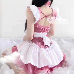 Pink Lolita Women Maid Cosplay Kawaii Lingerie SP139
