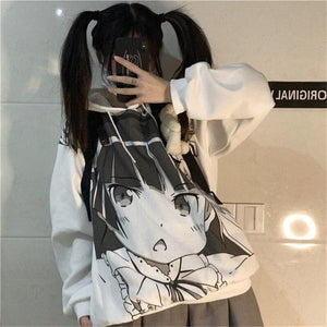 Fashion Cartoon Printed Girls Streetwear Hoodies SP15462