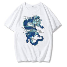 Load image into Gallery viewer, Streetwear Vintage Chinese Dragon Print T-shirt SE0726