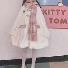 Load image into Gallery viewer, Cartoon Cute Rabbit Ears Hooded Lolita Teddy Plush Coat SP15604