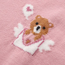 Load image into Gallery viewer, Pink Knitted Vest Bear Embroidery Sweater SP16496 - Harajuku Kawaii Fashion Anime Clothes Fashion Store - SpreePicky
