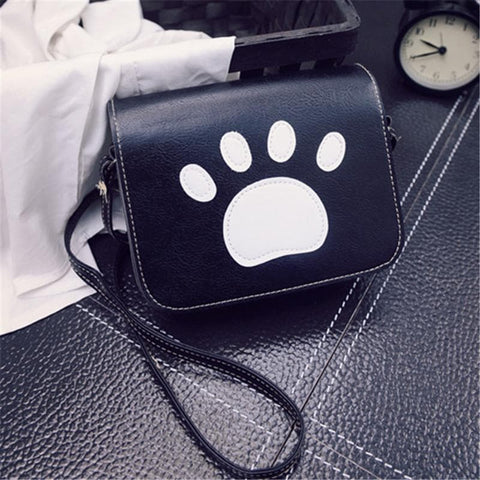 Cat Paw Prints Flap Handbags  Crossbody Bags SP1710200