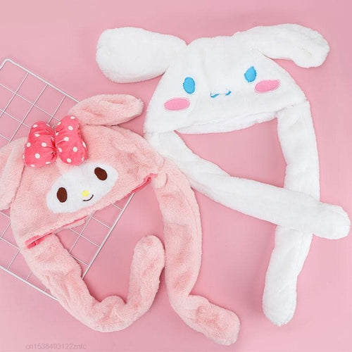Kawaii Plush Bunny Moving Ears Up Hat Plushie Toy SS1108