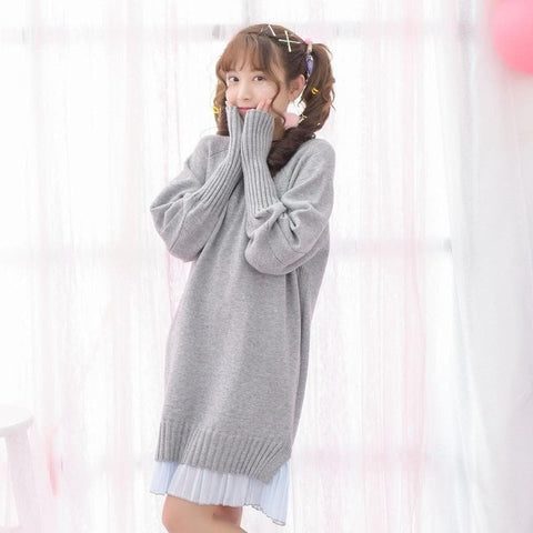 Mori Girl Knitting Dresses