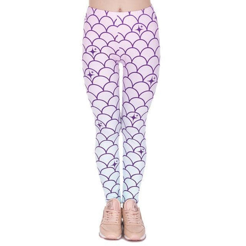 Mermaid Tail Printing Legging Sexy High Waist Leggings SP1710699